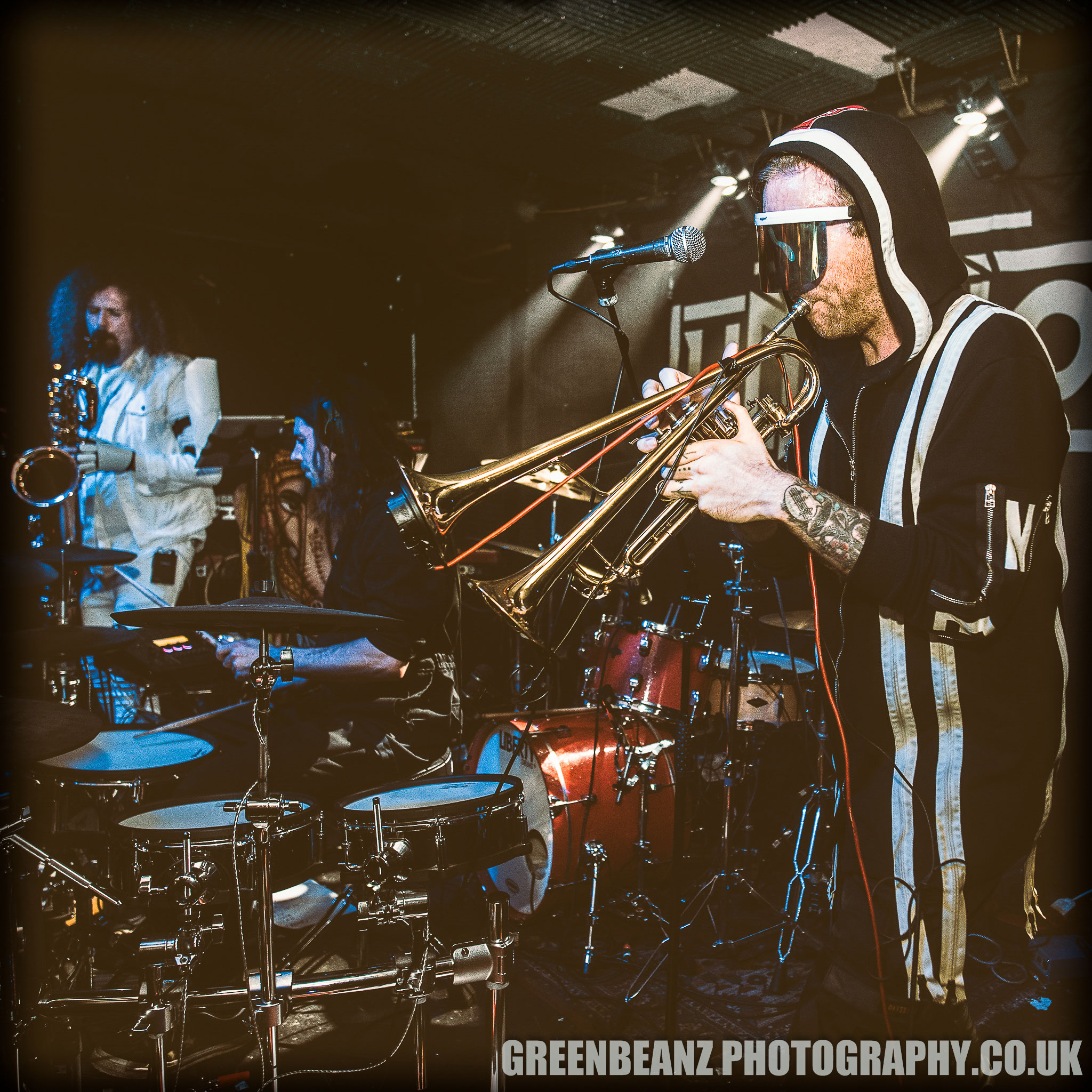 Badcore horns supporting Henge at The Junction in Plymouth 2019