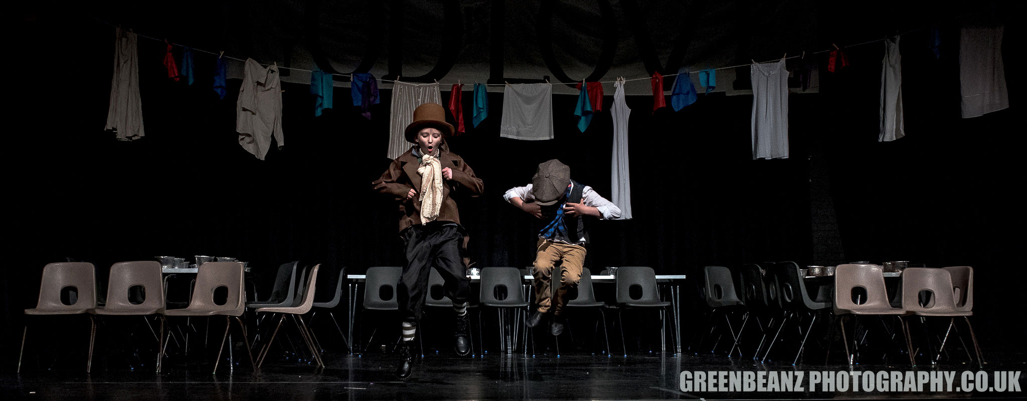 Oliver and the Artful Dodger in LS DRAMA Workshops version of the musical