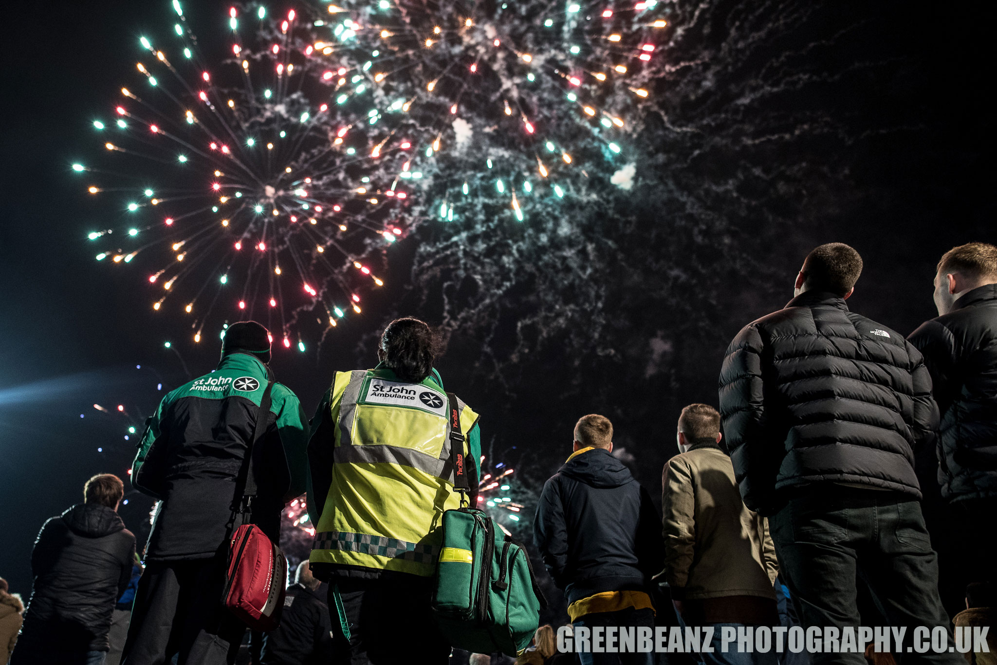 Plymouth 2019 fireworks shooting a national campaign for St Johns Ambulance