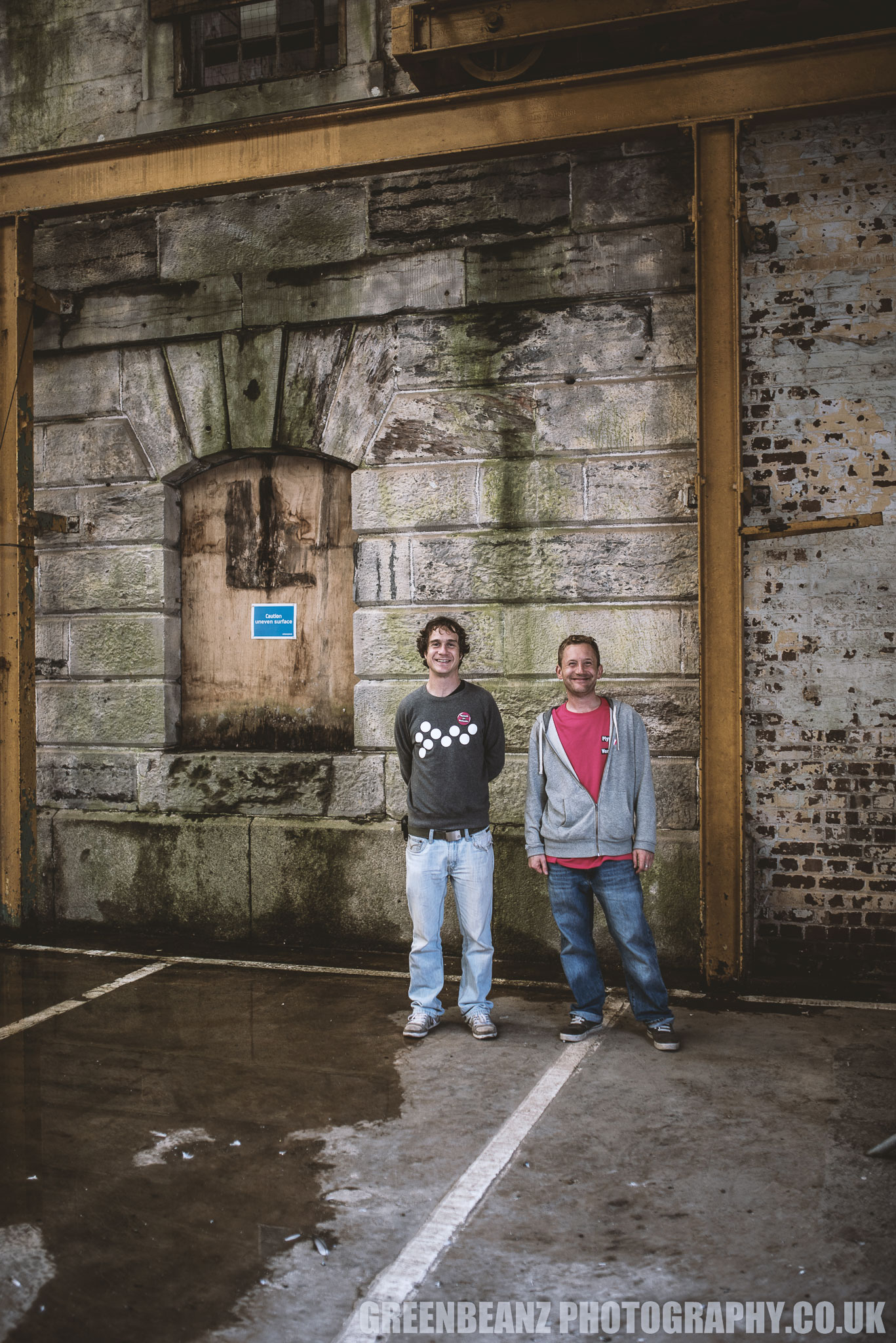 The Artists Christian Gale and Sam Ackroyd at The Royal William Yard