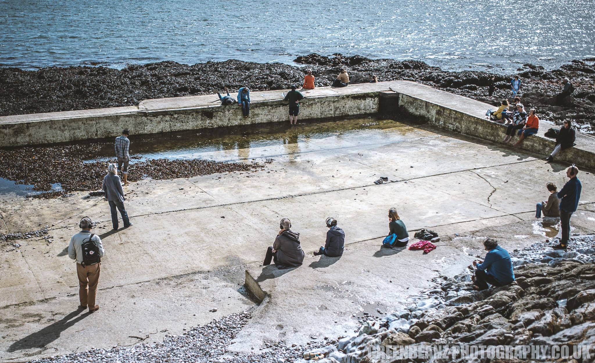 The tidal pool at Devil's Point a venue for the pubic to listen to the sound art piece 'Benthic Caress'
