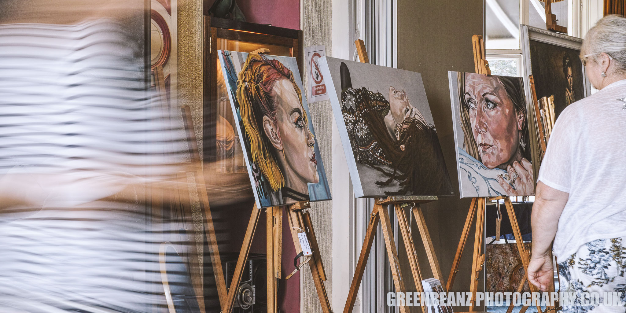 Jo Beer's paintings exhibited at the Reuben Lenkiewicz Art Festival in 2019