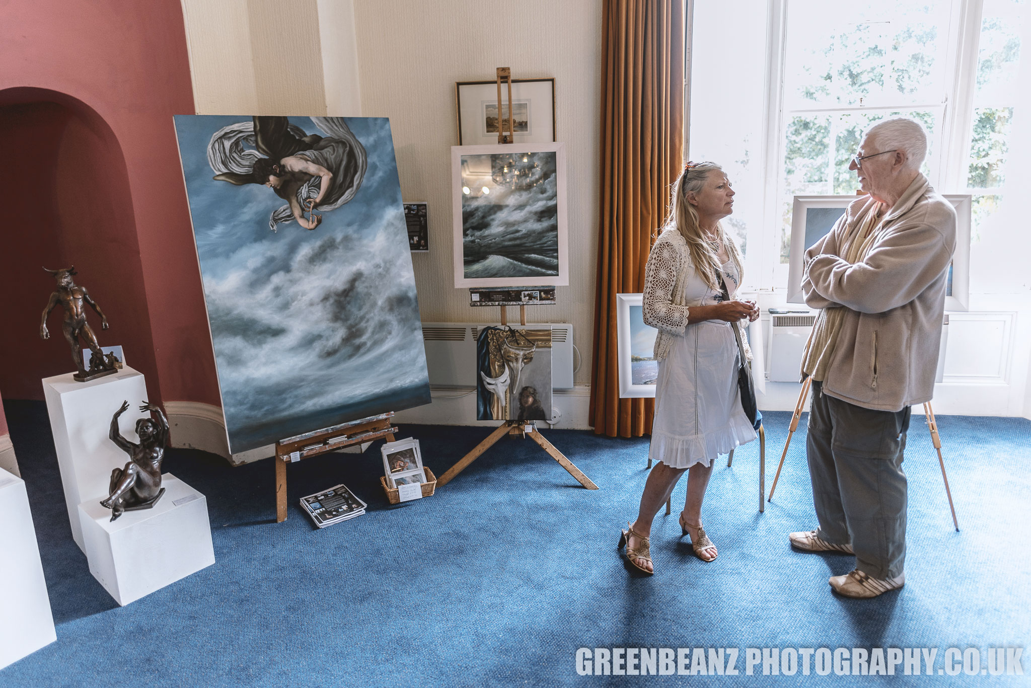 The Reuben Lenkiewicz Art Festival exhibited both local sculpture and paintings