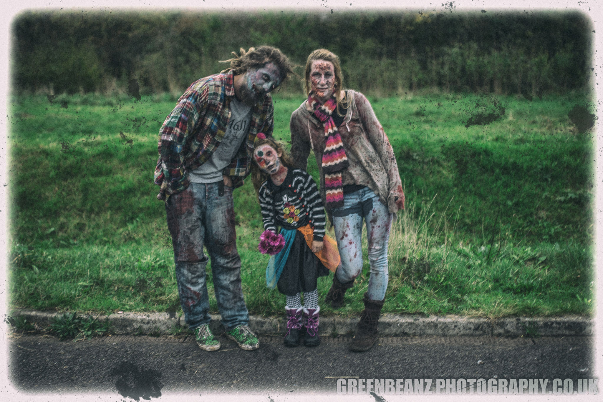 Discarded Undead Family Snap found near the start of Ivybridge Zombie Walk
