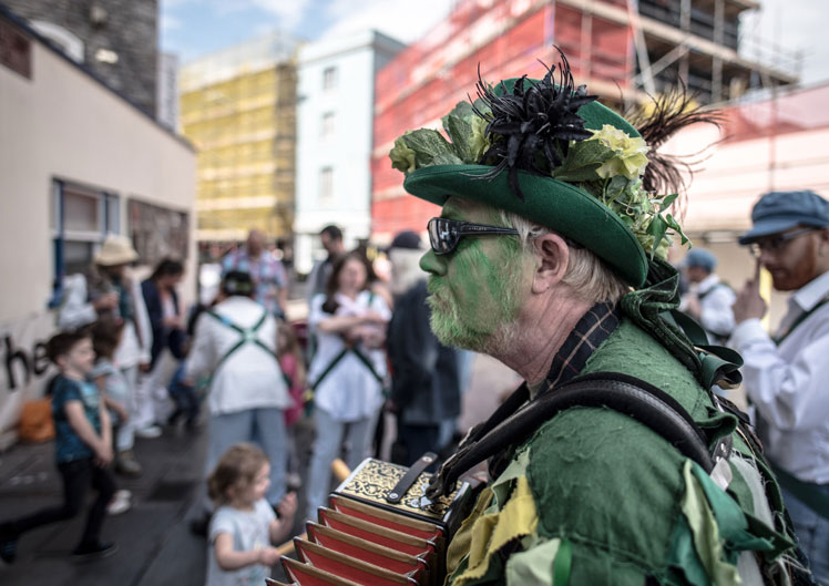 Greenman morris dancer in hat